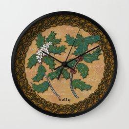 Celtic Holly Wall Clock