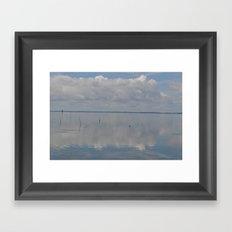 Picture Perfect Blue Sky Water Bay Scene Landscape  Framed Art Print