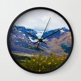 Athabasca Glacier in Jasper National Park, Canada Wall Clock