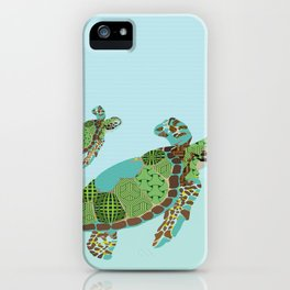 S is for Sea Turtle iPhone Case