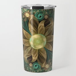 Shining Gems Blooming as Bronze and Copper Flowers Travel Mug