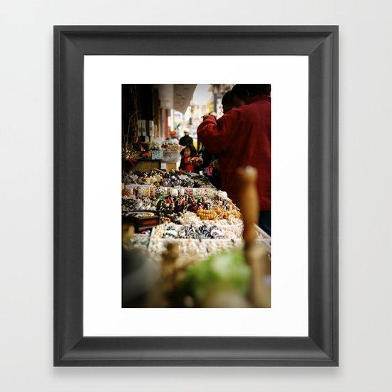 Marketplace Framed Art Print