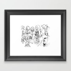 Transit People Framed Art Print