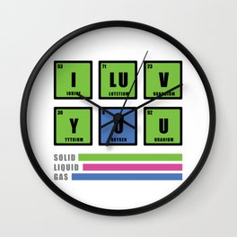 Love is chemistry Wall Clock