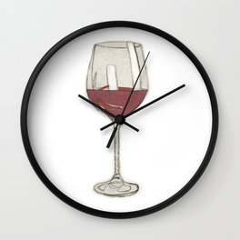 A glass of wine Wall Clock