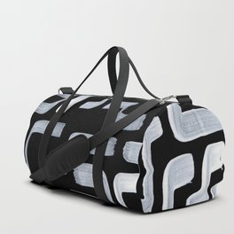 Strange Minimalist Abstract Ghostly Tribal Primitive Art Mid Century Modern Pattern Duffle Bag