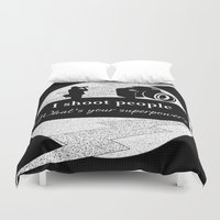 aperture Duvet Covers featuring I Shoot People by LLL Creations