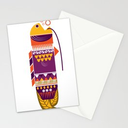 Oriental fish Stationery Cards