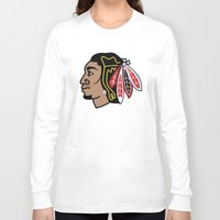 blackhawks Long Sleeve T-shirts featuring Blackhawks Inspired D Rose by beejammerican