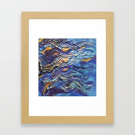 Abstract nautical background Framed Art Print