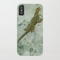 lizard iPhone & iPod Cases featuring Lizard by Michelle Behar