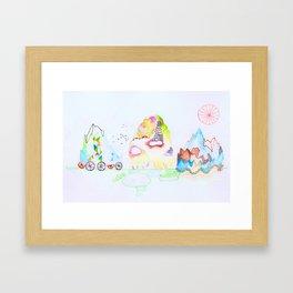 The Mountainwalk. Framed Art Print