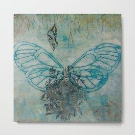 Wings, Nest, and Chrysalis Metal Print
