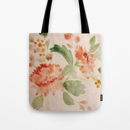 Fall Bouquet - Watercolor Peonies Tote Bag