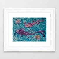 ohana Framed Art Prints featuring Ohana by Marisa Johnson :: Art & Photography