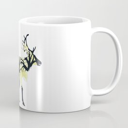 Night Deer Silhouette Coffee Mug