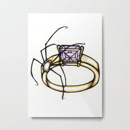 Spider/Jewelry Metal Print