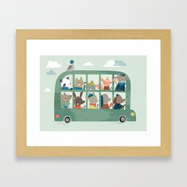 We went on the Bus Framed Art Print