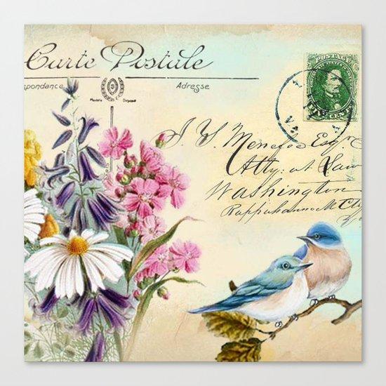 Sweet birds #1 Canvas Print