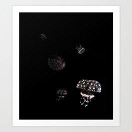 BluePink JellyFish Art Print