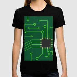 Microchip Pcb, tech print T-shirt