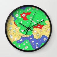 jenny liz rome Wall Clocks featuring Liz by Amanda Trader