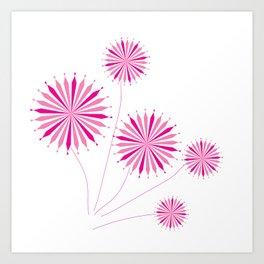 Amazing flowers Art Print