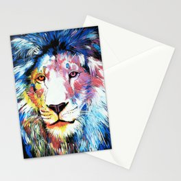 Colorful African Lion Stationery Cards