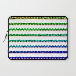 Multicolour Chrome Wiggle Line Pattern Laptop Sleeve