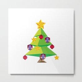 Polygonal green Christmas tree Metal Print