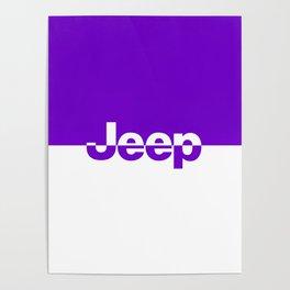 Jeep 'LOGO' Purple Poster