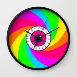 Neon Gaze Wall Clock