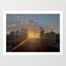 Sunset Over Buckhead Art Print