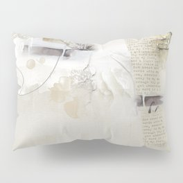 Abstract - Tranquility 2 - Soft Neutral Colour Collage - Mixed Media Pillow Sham