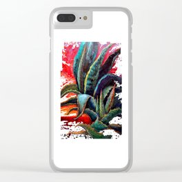 Southwest-western Style Desert Agave in Sunrise Clear iPhone Case