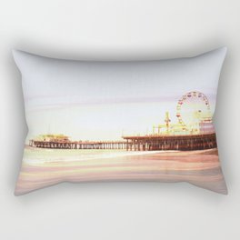 Santa Monica Pier Sunrise Rectangular Pillow