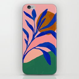 Blue Plant in Spring iPhone Skin