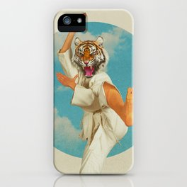 Fighting Tiger iPhone Case