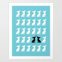 Dog Love 2 Art Print