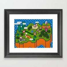 Super Grass Land Framed Art Print