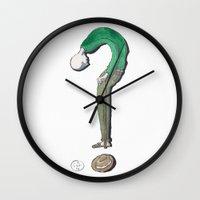 future Wall Clocks featuring future by pensa+