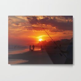 Emerald Isle NC - Sunset #1 Metal Print
