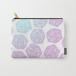 d20 pattern dice gradient pastel - icosahedron Carry-All Pouch