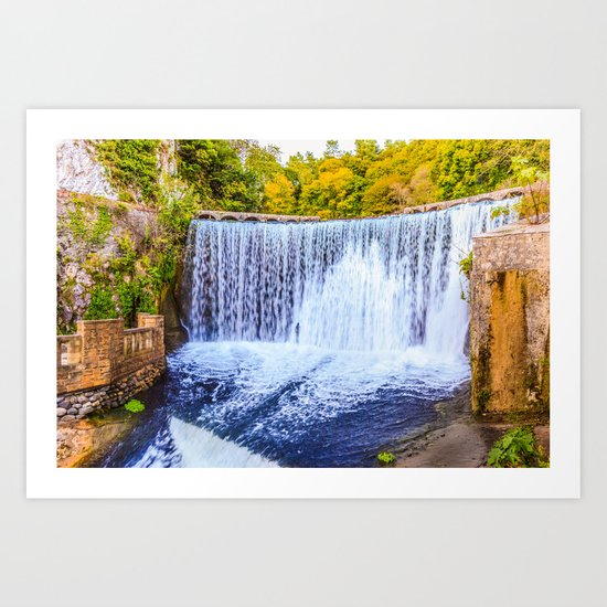 Monk's waterfall Art Print