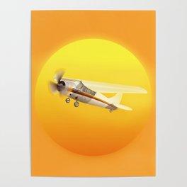 Bright Yellow Sun Poster