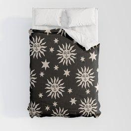 Mid Century Modern Sun and Star Pattern 226 Comforters