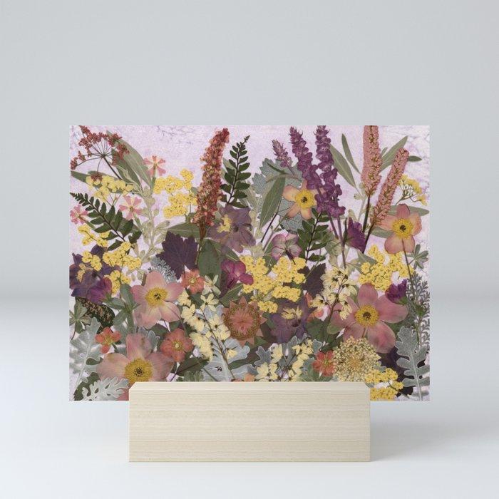 Pressed Flower English Garden Mini Art Print
