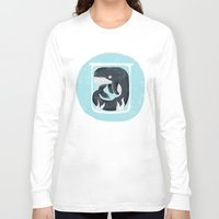 the whale Long Sleeve T-shirts featuring Whale by Rodrigo Fortes
