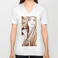 mucha V-neck T-shirts featuring My Mucha by Little Bunny Sunshine