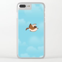 Little Flying Sparrow Clear iPhone Case